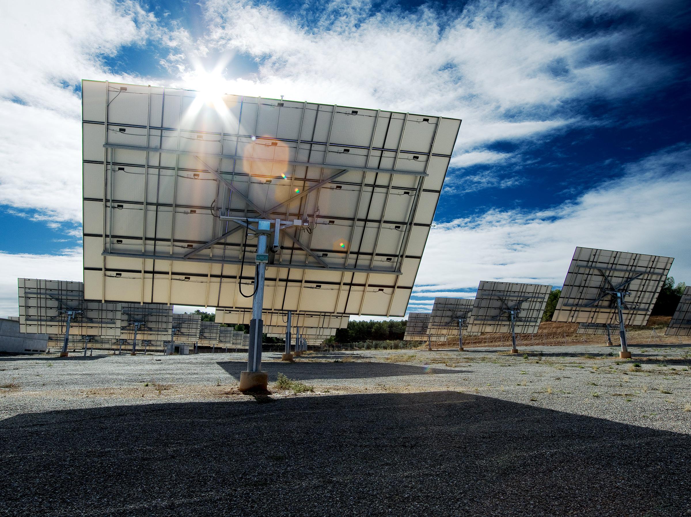 Solarpark Solarpanel