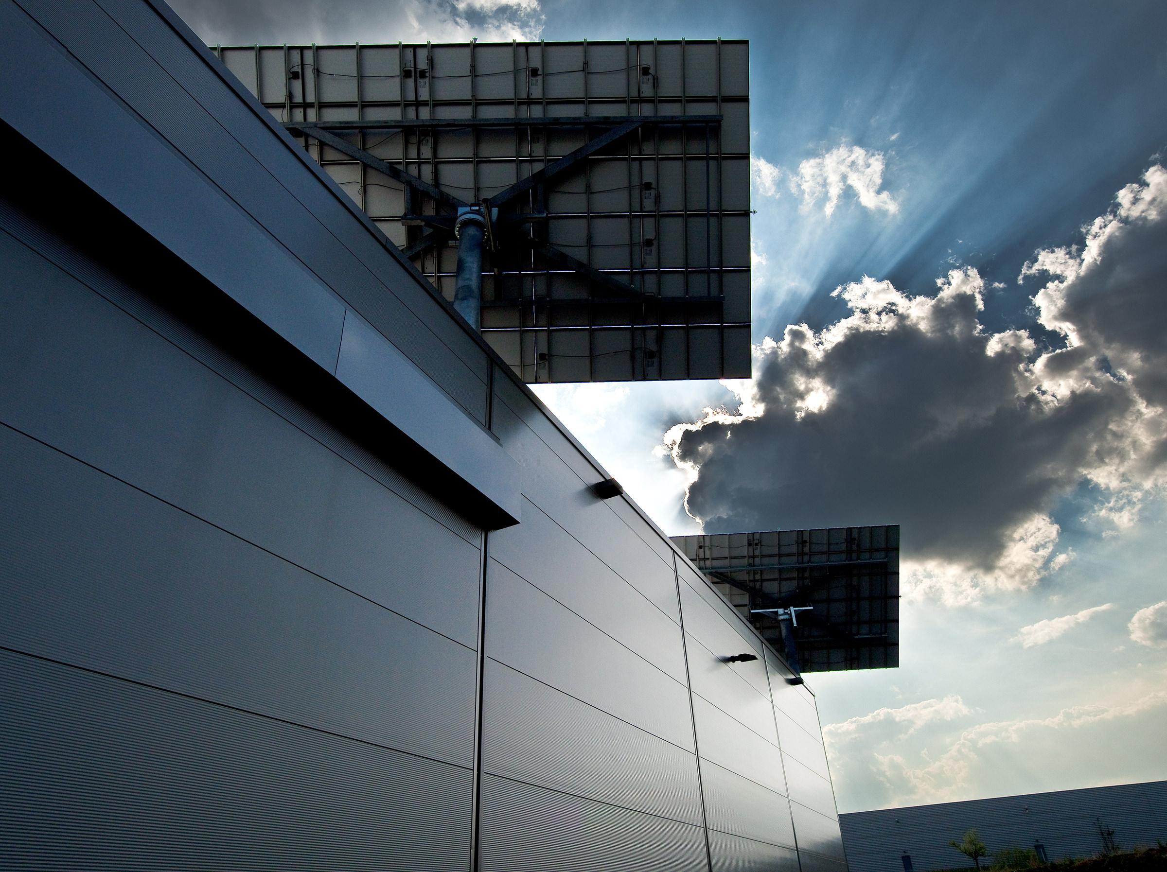 Solar Panel auf Dach