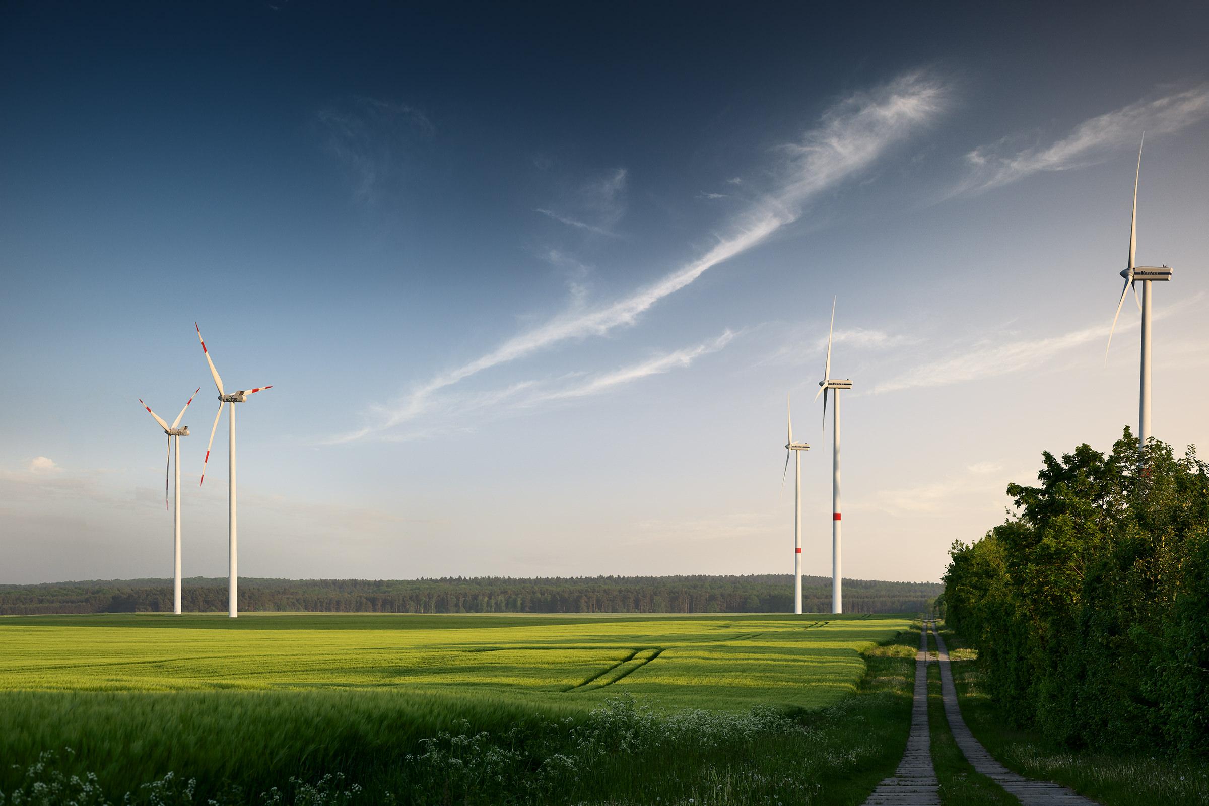 Windräder - nachhaltige Energie mit Zukunft