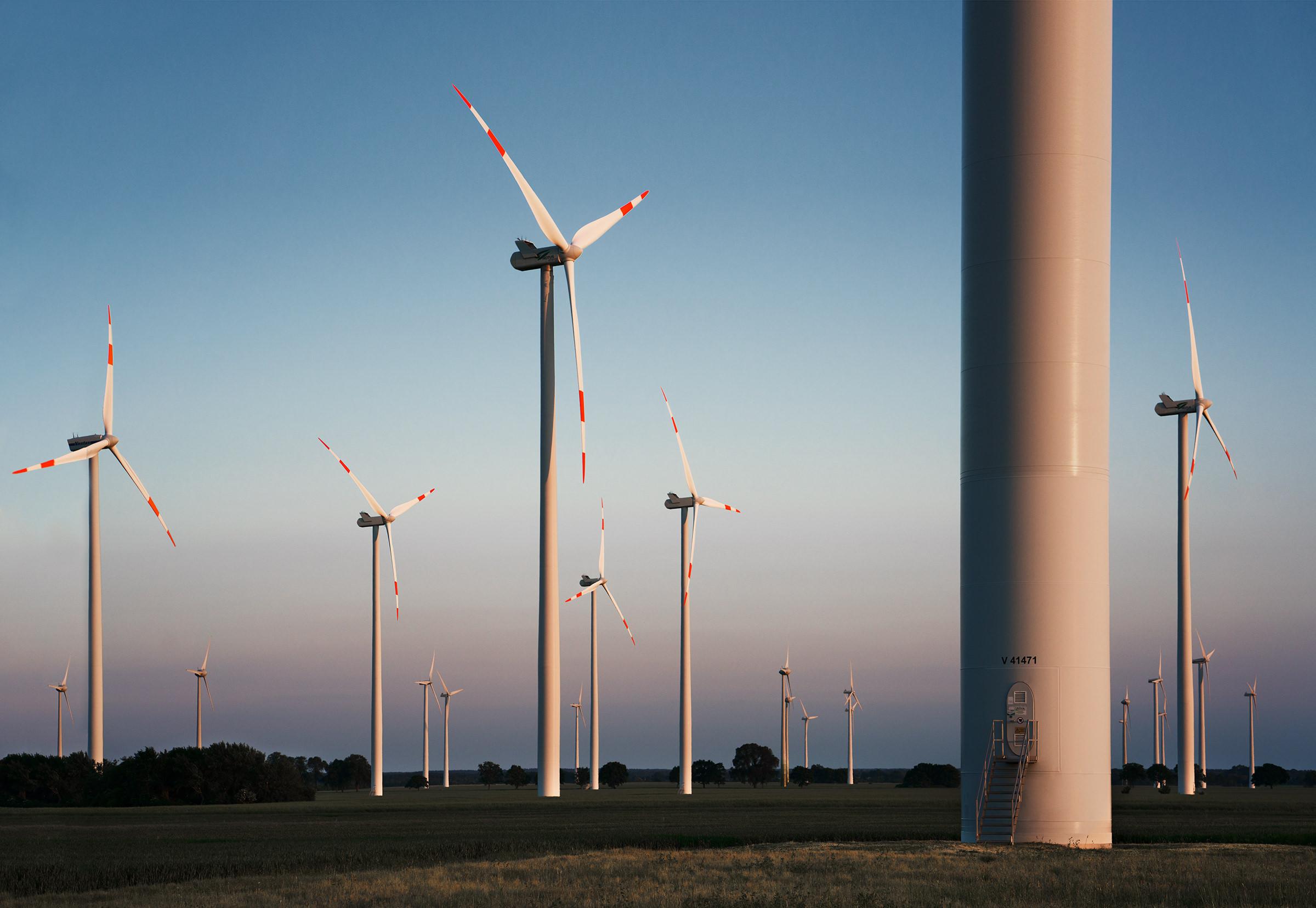 Windpark Vestas Anlagen von Notus Energy