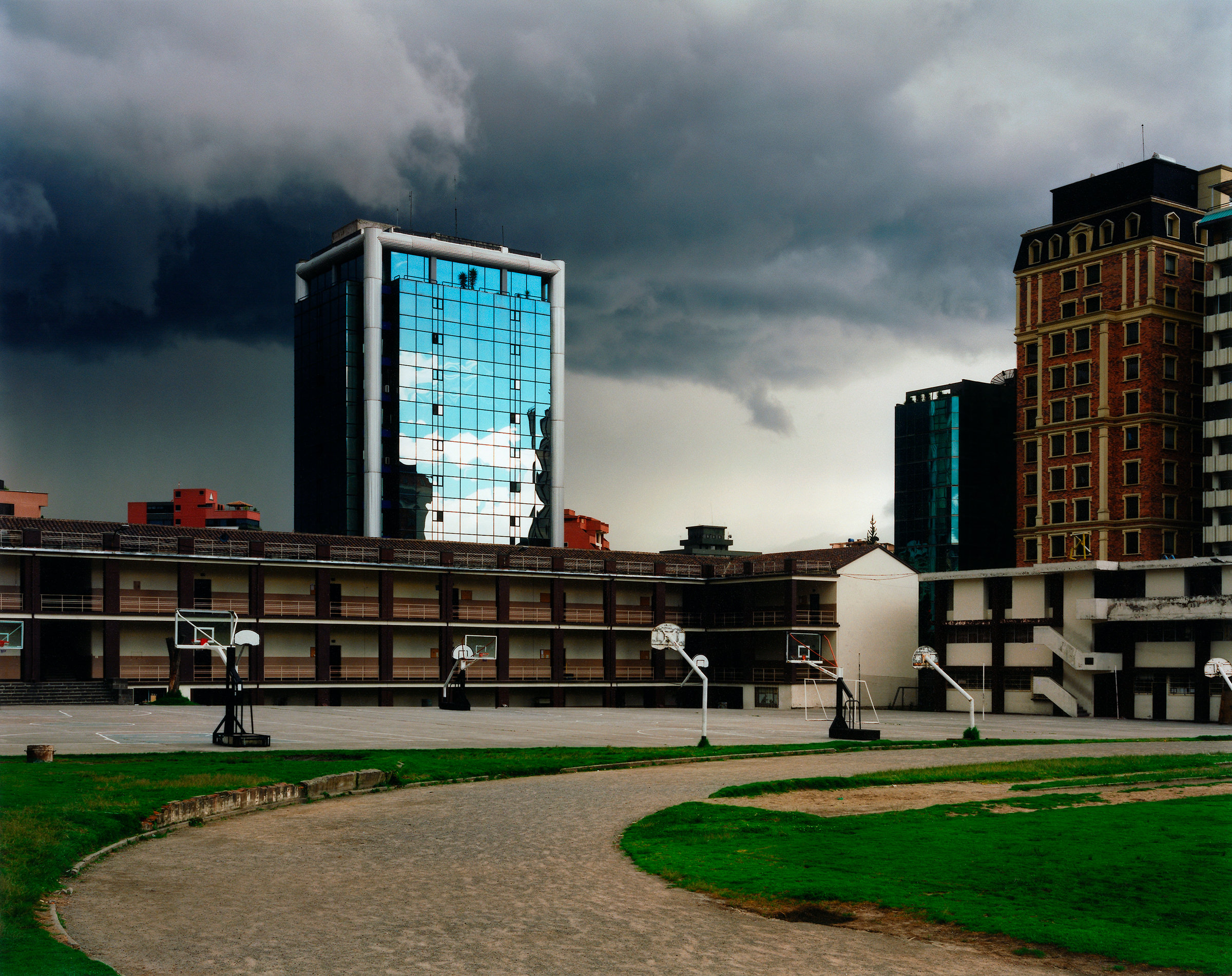 Wolkenbruch Quito Ecuador